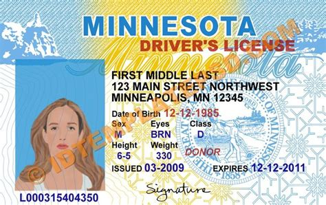 nyc dob designated foreman card template this is minnesota usa state drivers license psd