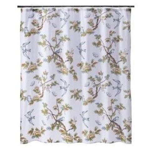 bird print curtains new target threshold home blue bird shower curtain bath