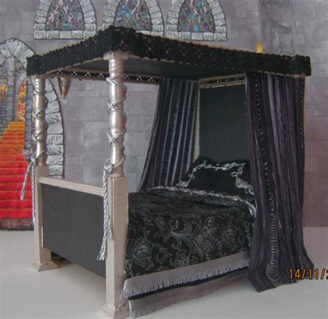 gothic bed doll s house gothic medieval witch tudor 4 poster bed
