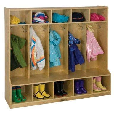 coat locker with bench ecr4kids birch 5 section coat locker w bench elr 0453