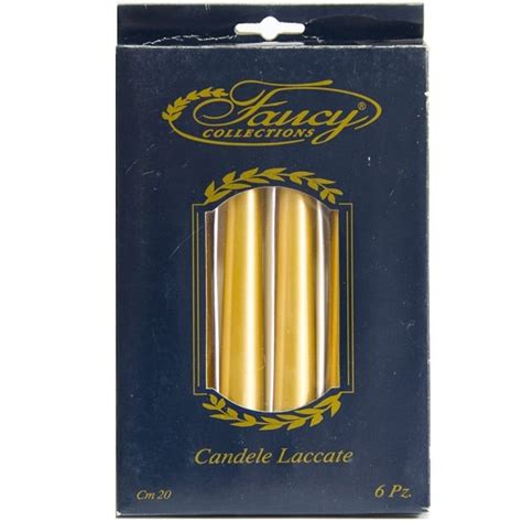 candele coniche candele coniche laccate fancy collections 6 pezzi