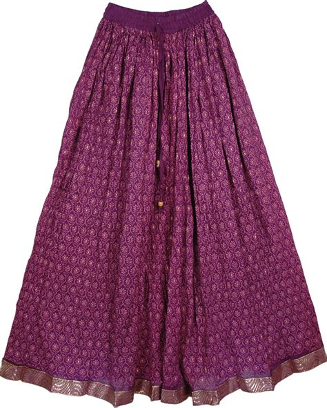 gold pattern skirt purple gold pattern ethnic long skirt clothing sale on