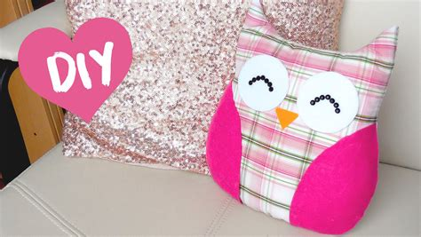 DIY ROOM DECOR Easy owl Pillow! (Sew/no sew)   YouTube