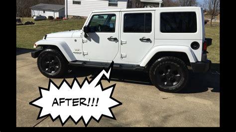 2016 Jeep Wrangler Jk Plasti Dip The Wheels Literally