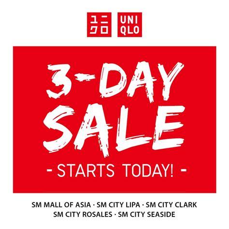 on sale uniqlo 3 day sale april 15 17 2016 manila on sale