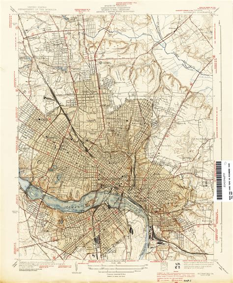 virginia topographic map txu pclmaps topo va richmond 1934 jpg 2957 215 3594 house