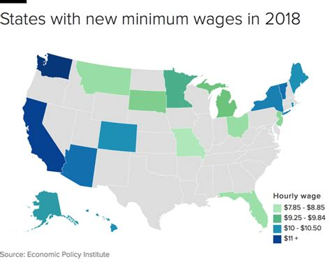 minimum wage for 18 higher minimum wages come to 18 states in 2018 cbs news