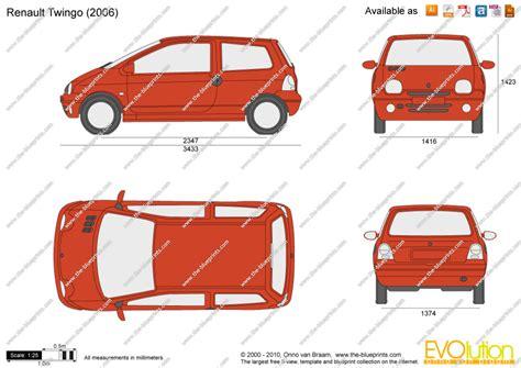 renault twingo 1992 renault twingo vector drawing