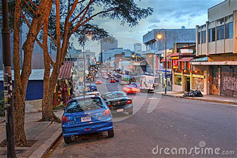 along with the gods san jose street in san jose costa rica editorial image image