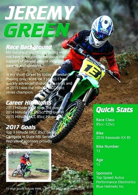 Motocross Resumes Co Sponsorship Resume Template Mmventuresco Page Resume 171 G Fit Co Free Free Mx Resume Templates