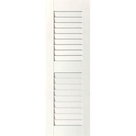 Interior Shutters Home Depot by Homebasics Plantation Faux Wood White Interior Shutter