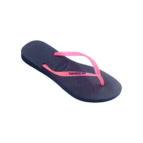 Sandal Fipper Slim Cewek Navy Turqoise havaianas slim logo pop up flat flip flop navy blue pink womens from onlineshoe uk