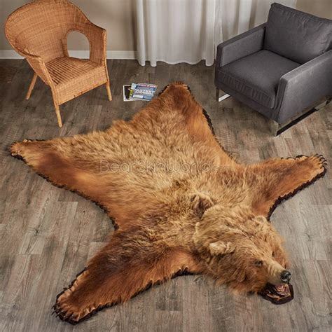 grizzly skin rug grizzly rugs for any room skin world