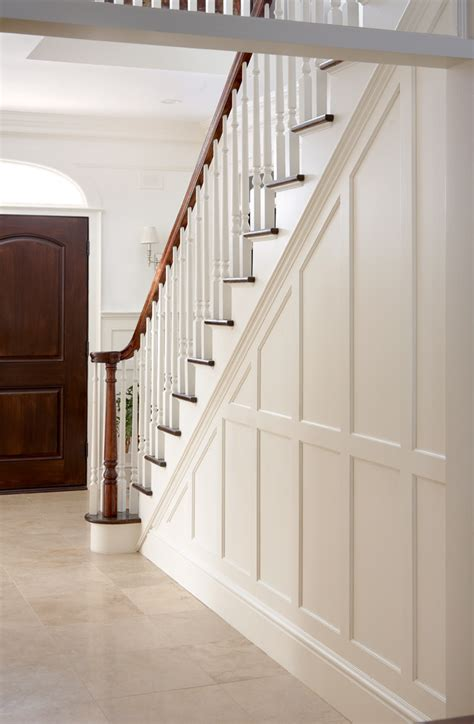 Wainscoting Foyer by Entry Stair Railing Split Foyer King Design