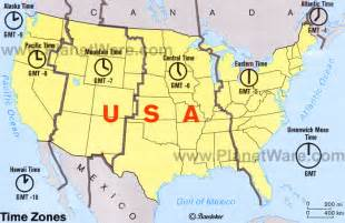time zone america map how many time zones usa
