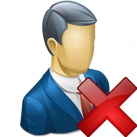 IconExperience » V-Collection » Businessman Delete Icon