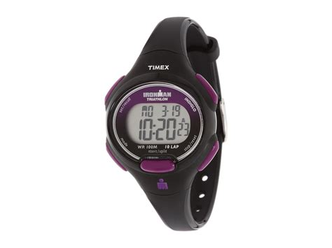 timex sport ironman black and purple mid size 10