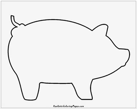 pig template simple animal coloring pages realistic coloring pages