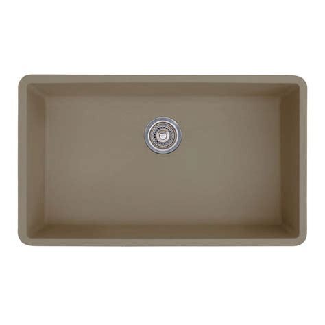 shop blanco precis 18 75 in x 32 in white single basin blanco precis super undermount granite 32 in 0 hole