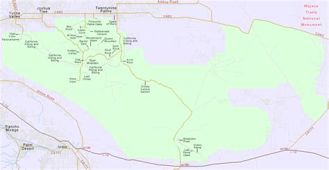 joshua tree hiking map map of hikes and trails in joshua tree national park