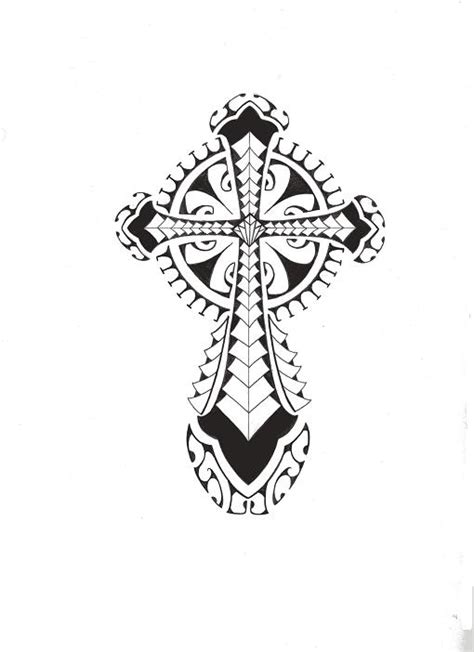 tribal polynesian cross by smekeal00 on deviantart