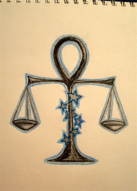 libra scale tattoo cool libra zodiac scale with