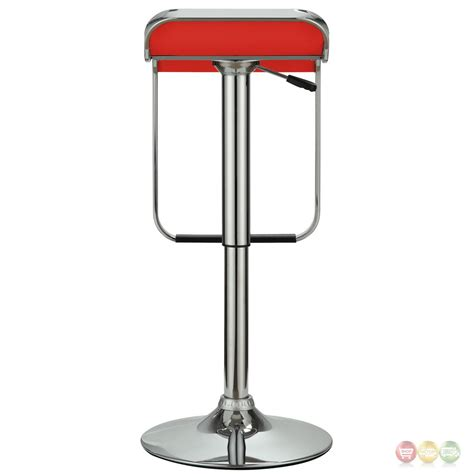 Bar Stool Foot Rest by Modern Backless Vinyl Bar Stool With Foot Rest And