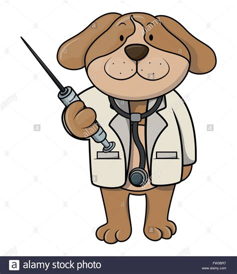 puppy doctor doctor illustration stock vector illustration vector image
