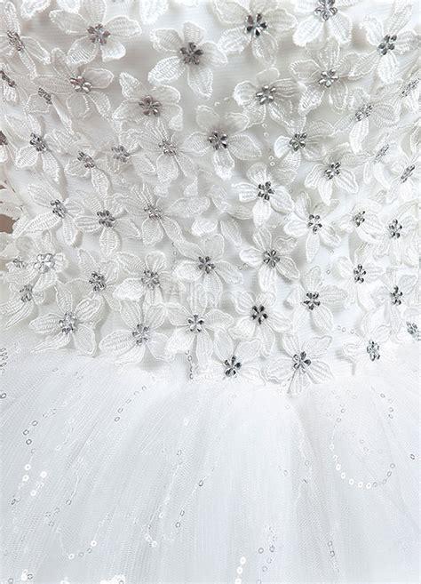 Brautkleider 3d Blumen by Prinzessin Brautkleid 3d Blumen Applique Wei 223 En Maxi