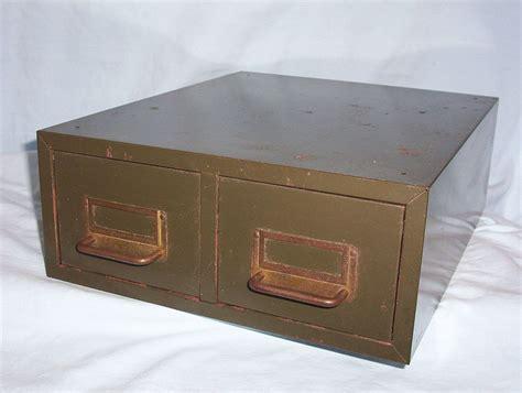 vintage industrial file cabinet vintage metal industrial card file cabinet 2 drawers