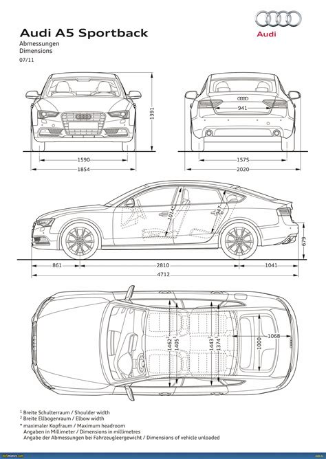 image gallery car measurements image gallery dimensions a5