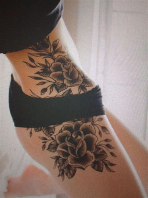 tattoo body part names black flowers girl s hip tattoo tattoomagz
