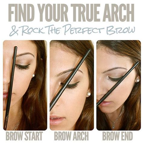 a visual guide to eyebrow shapes eyebrow hacks tips tricks how to guide to perfect