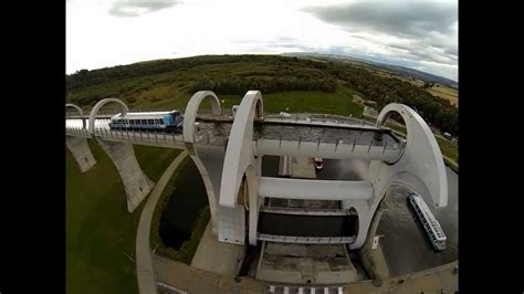 falkirk wheel boat lift youtube the falkirk wheel from the air youtube
