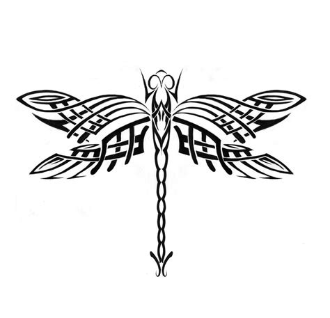 unusual tribal tattoos unique tribal dragonfly sle