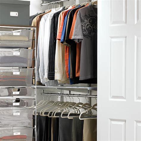 Loft Closet Solutions by Platinum Elfa Loft Walk In Closet The Container Store