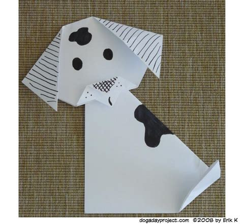 How To Make Paper Dogs - june 2 origami a a day