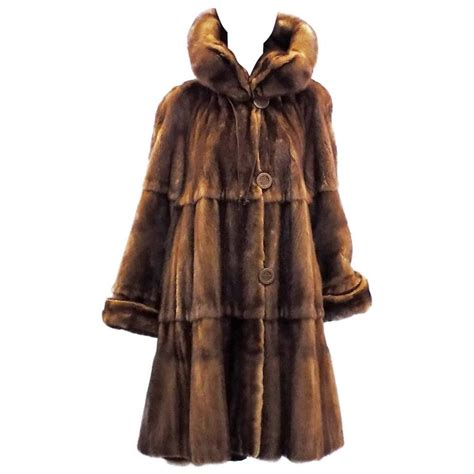fur swing coat luxurious fendi reversible whiskey mink swing fur coat one