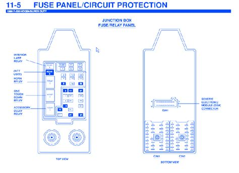 ford   diesel  junction fuse boxblock circuit breaker diagram carfusebox