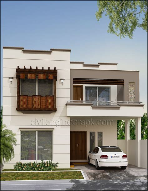home design 4 marla house front views civil engineers pk