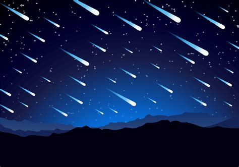 meteor shower background free vector download free