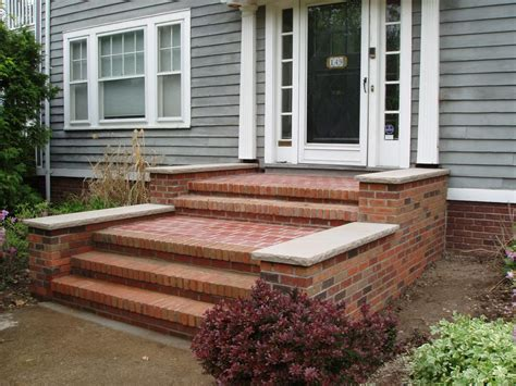 Brick Front Porch Steps Brick Front Steps Exterior Home Remodel