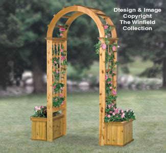 structure woodworking plans arched trellis wplanters