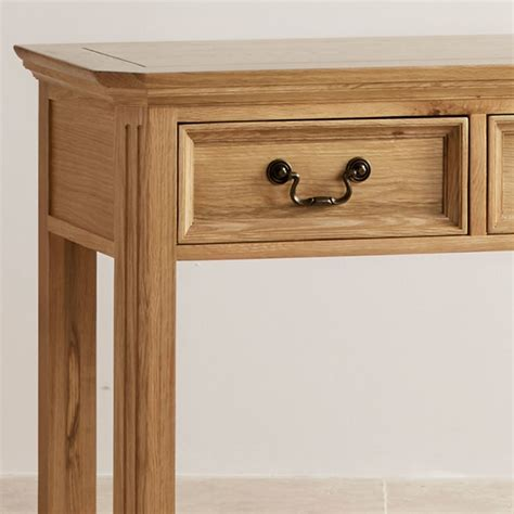 Oak Furniture Land Console Table Edinburgh Solid Oak Console Table Oak Furniture Land