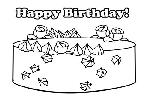 crayola birthday cake coloring page birthday coloring pages