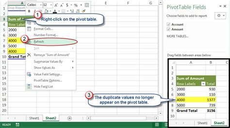 excel 2007 pivottable excel pivot table show value in every row how to manage