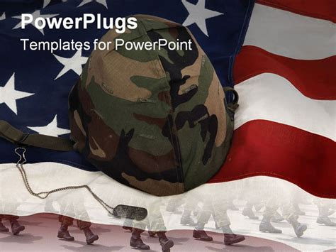 powerpoint templates free military best powerpoint template us army helmet and dog tag on
