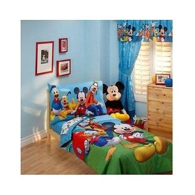 Mickey Mouse Clubhouse Crib Bedding Toddler Bedding Set 4 Pc Disney Mickey Mouse Clubhouse Crib Bed Comforter What S It Worth