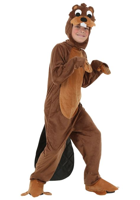 in costume child busy beaver costume