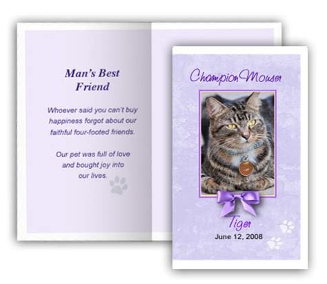 free memorial card templates for mac 19 best pet memorials templates images on card